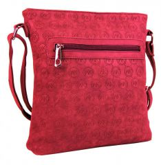 Dámská crossbody kabelka s ražením R820 červená
