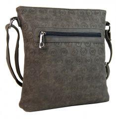 Dámská crossbody kabelka s ražením R820 šedá