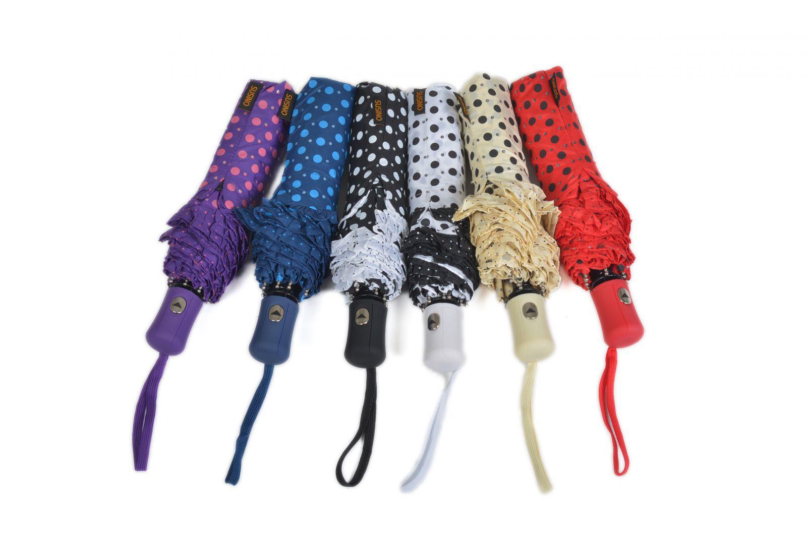 Skládací deštník SUSINO bílá/černá