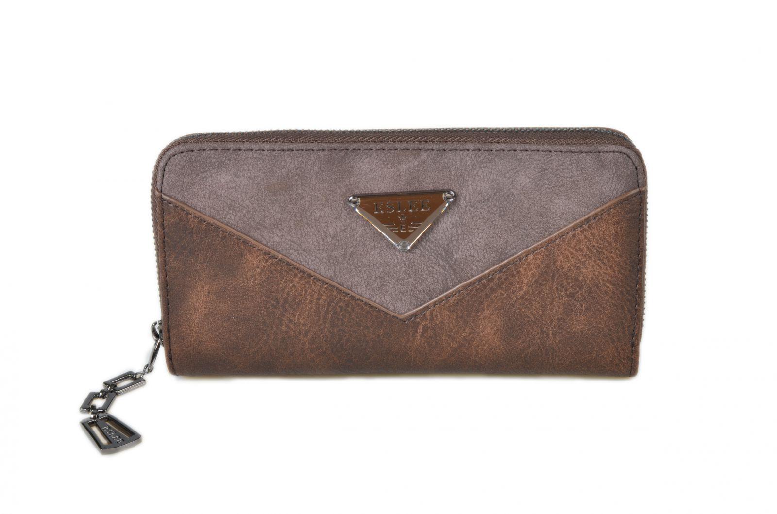 Dámská peněženka ESLEE 6392 brown E-batoh