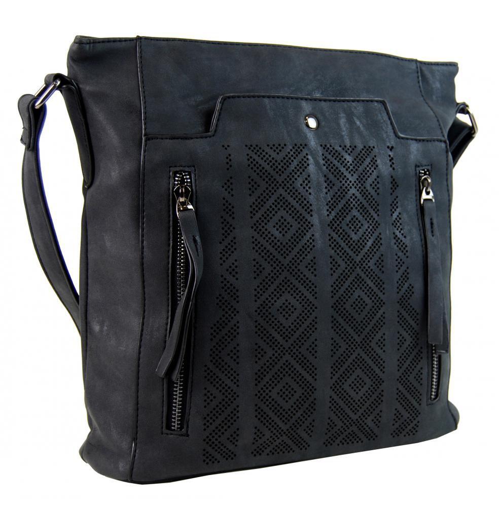 Tapple Dámská broušená crossbody kabelka 16028 černá