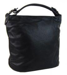 Velká černá jednoduchá kabelka na rameno OS0004