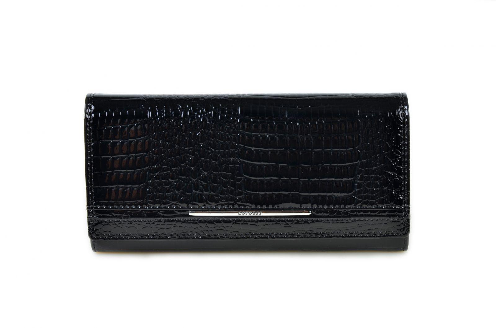 Dámská kožená peněženka v krabičce Cossroll 02-5242 černá