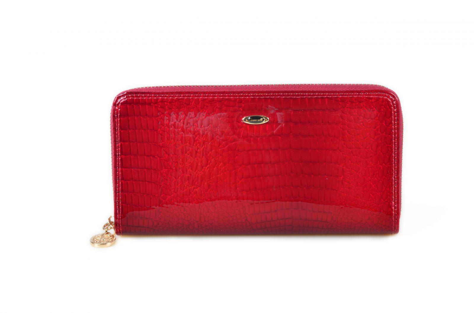 Dámská kožená peněženka v krabičce Cossroll 08-3124 červená
