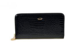 Dámská kožená peněženka v krabičce Cossroll 08-3124 černá
