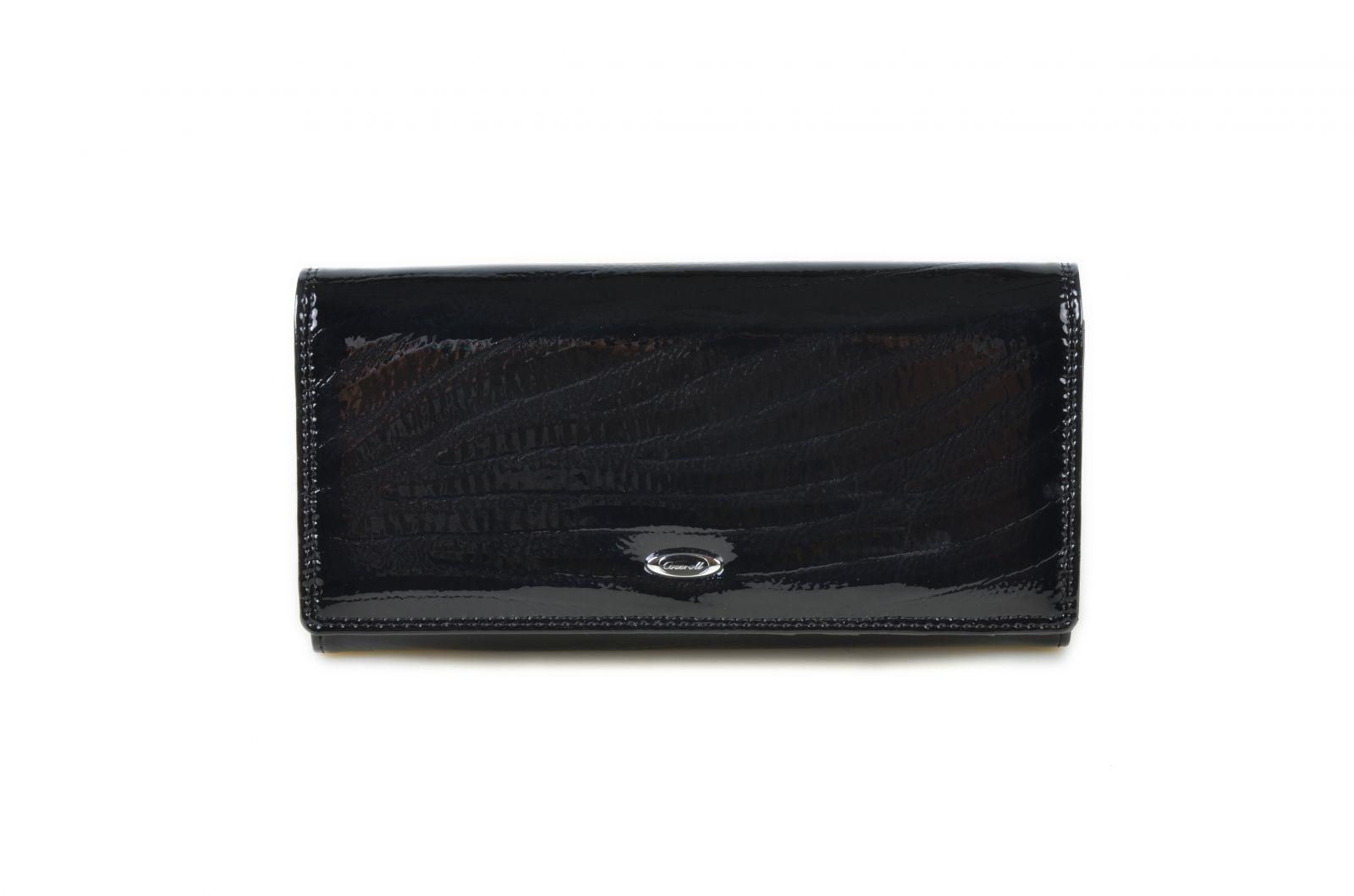 Dámská kožená peněženka v krabičce Cossroll E13-5242 černá