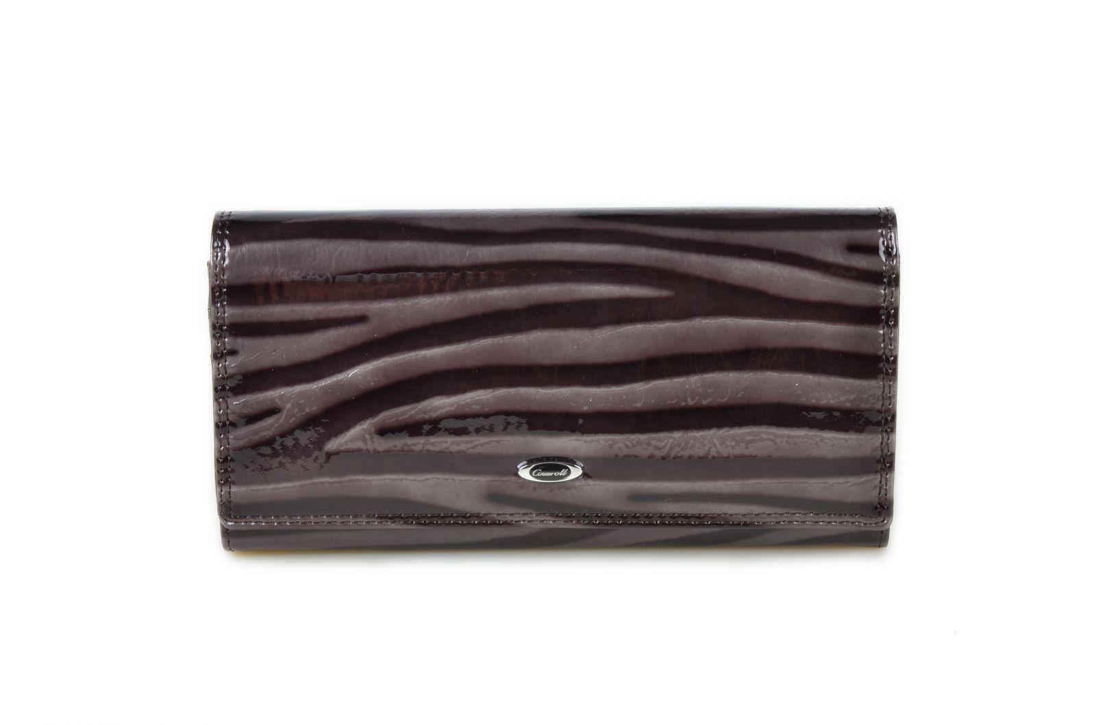 Dámská kožená peněženka v krabičce Cossroll E13-5242 šedá