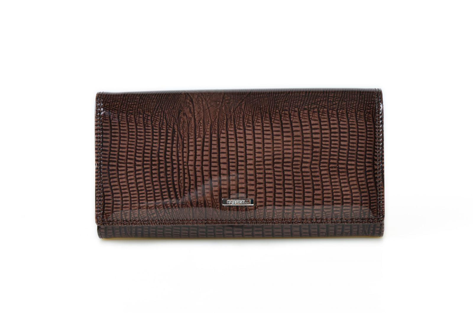 Dámská kožená peněženka v krabičce Cossroll C09-5242 sp hnědá