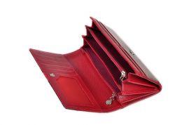 Dámská kroko kožená peněženka v krabičce Cossroll 07-5242F červena E-batoh