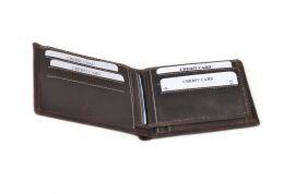 Pánská peněženka z broušené kůže WILD 966 hnědá E-batoh