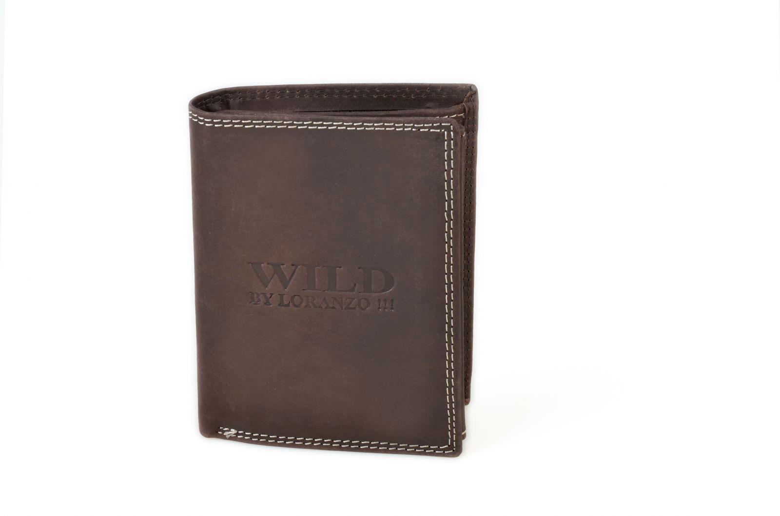 Pánská peněženka z broušené kůže WILD 982 hnědá