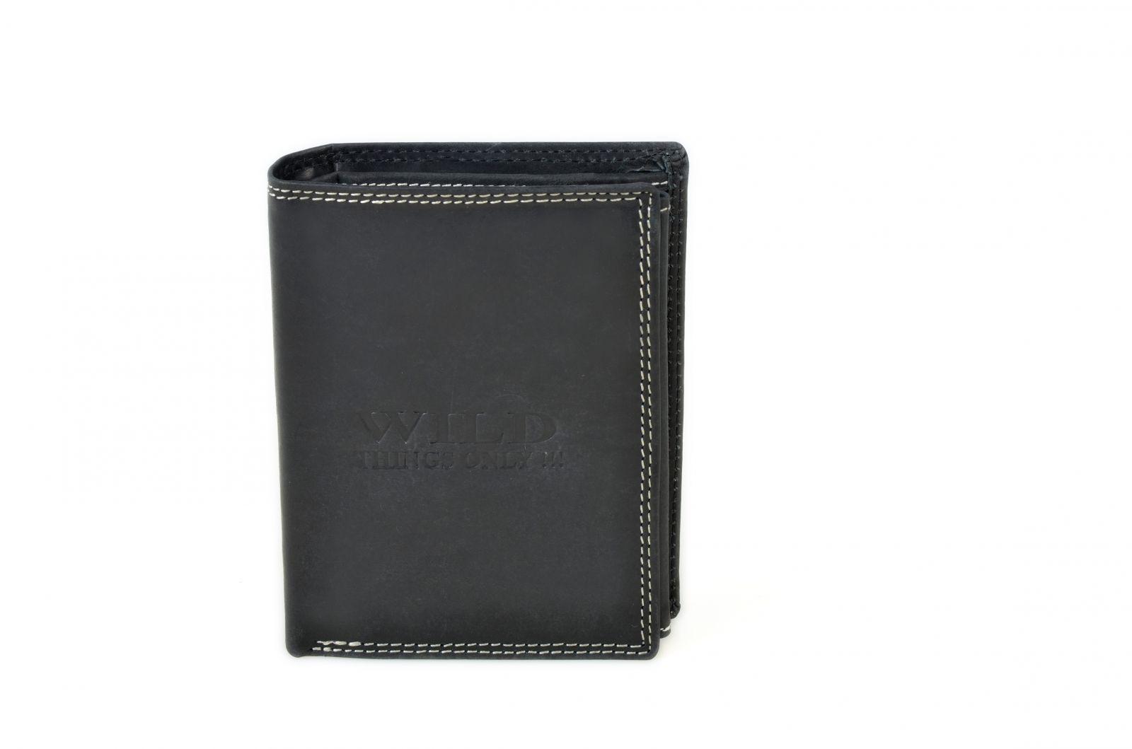 Pánská peněženka z broušené kůže WILD 982 černá