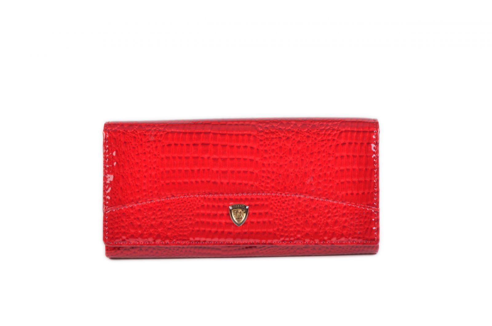 Dámská kožená peněženka v krabičce Cossroll E18-5242 RED