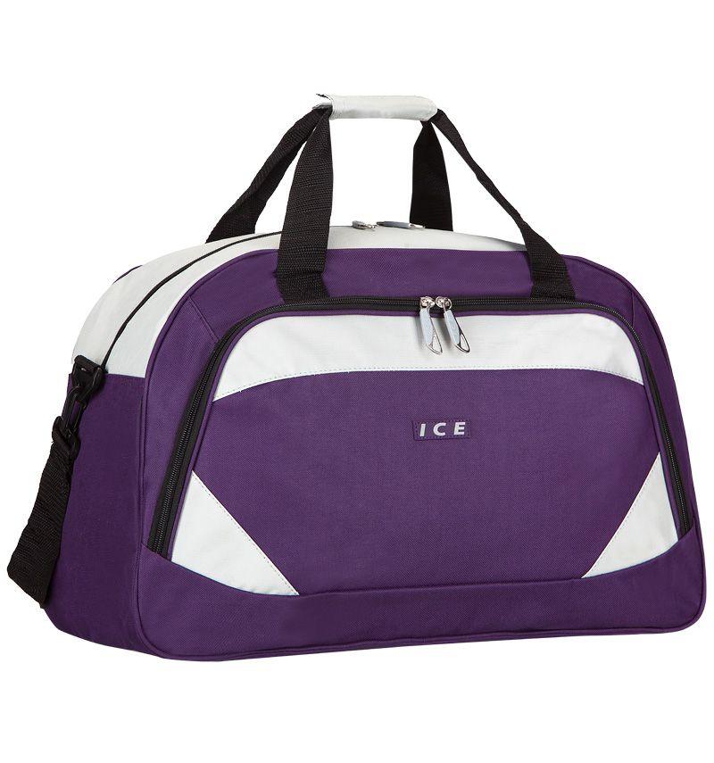 Cestovní taška ICE 7558 - fialová/stříbrná