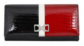 Dámská kožená peněženka v krabičce Cossroll 04-5242  z černá-červená