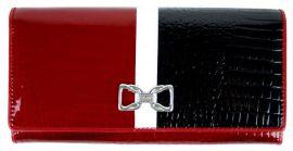 Dámská kroko kožená peněženka v krabičce Cossroll A17-5242 z červená