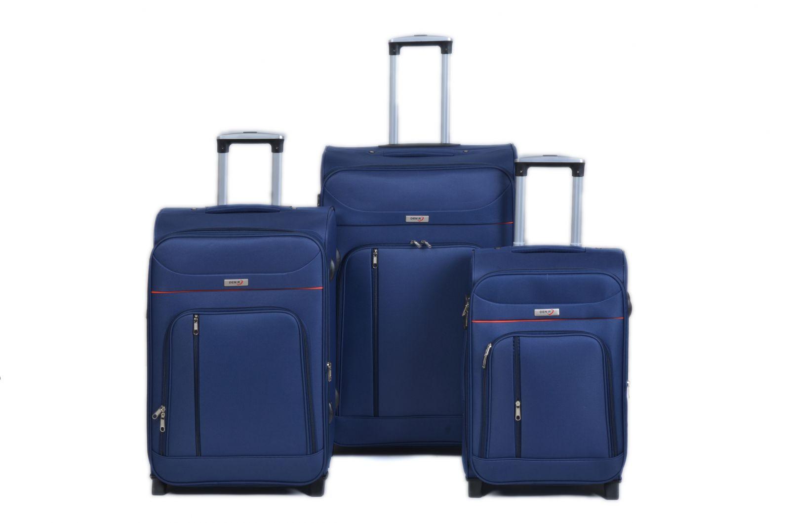 Trolley-CASE TC-B887 sada 3 kufru modrá E-batoh