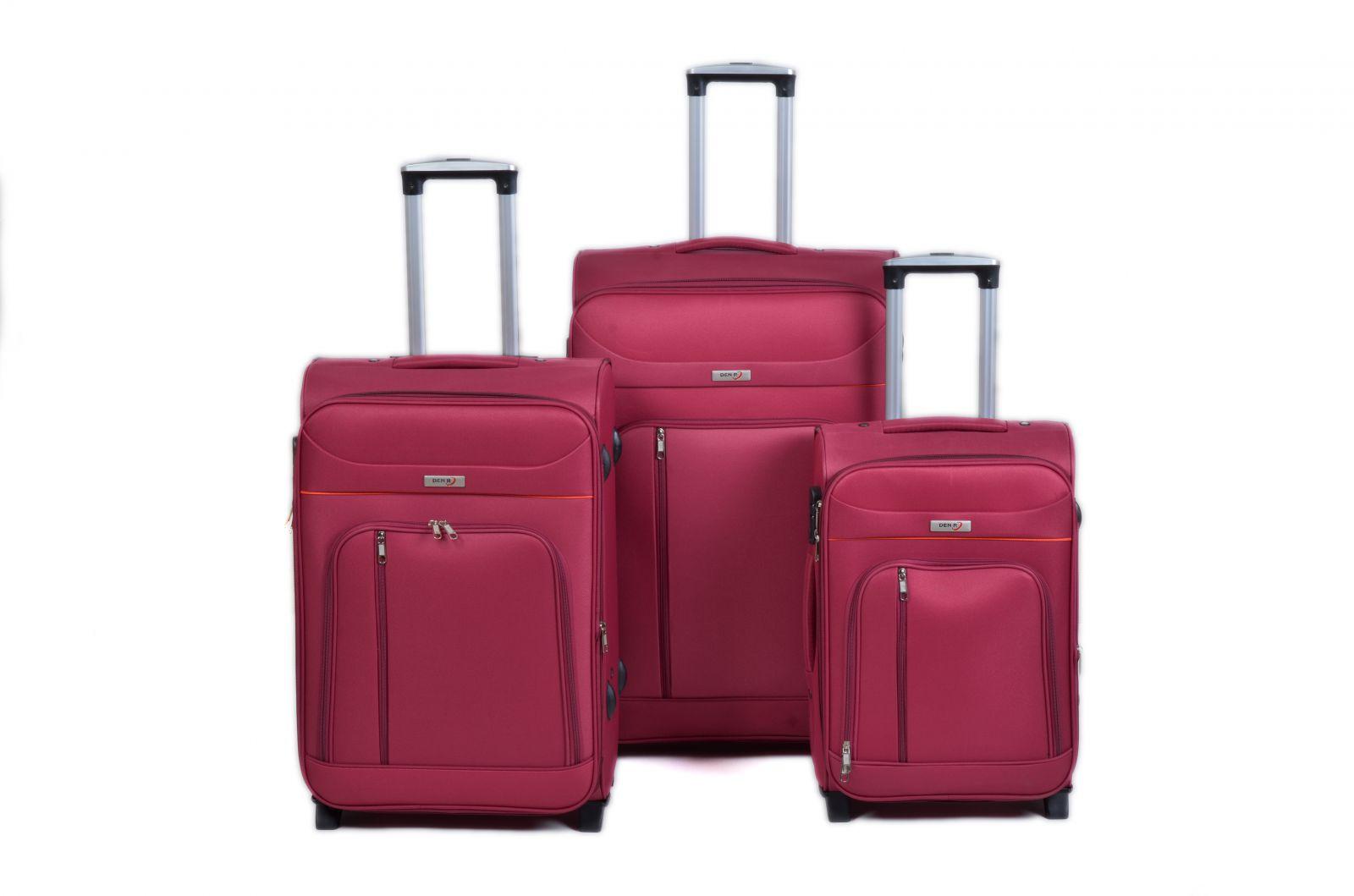 Trolley-CASE TC-B887 sada 3 kufru červená