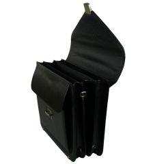 Aktovka REAbags 7173B - černá/nikl E-batoh