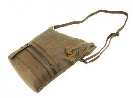 Asymetrická dámská broušená crossbody kabelka 16011 přírodní hnědá Tapple E-batoh