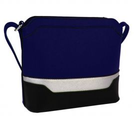Malá modro-černo-stříbrná crossbody kabelka YH1633