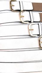 Moderní crossbody kabelka se zlatými přezkami 2124-BB přírodní hnědá BELLA BELLY E-batoh