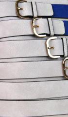 Moderní crossbody kabelka se zlatými přezkami 2124-BB modrá BELLA BELLY E-batoh