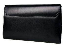 Matná černo-stříbrná společenská listová kabelka SP127 GROSSO E-batoh