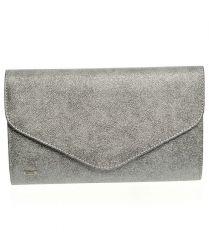 Stříbrná hrubá společenská listová kabelka SP102 GROSSO