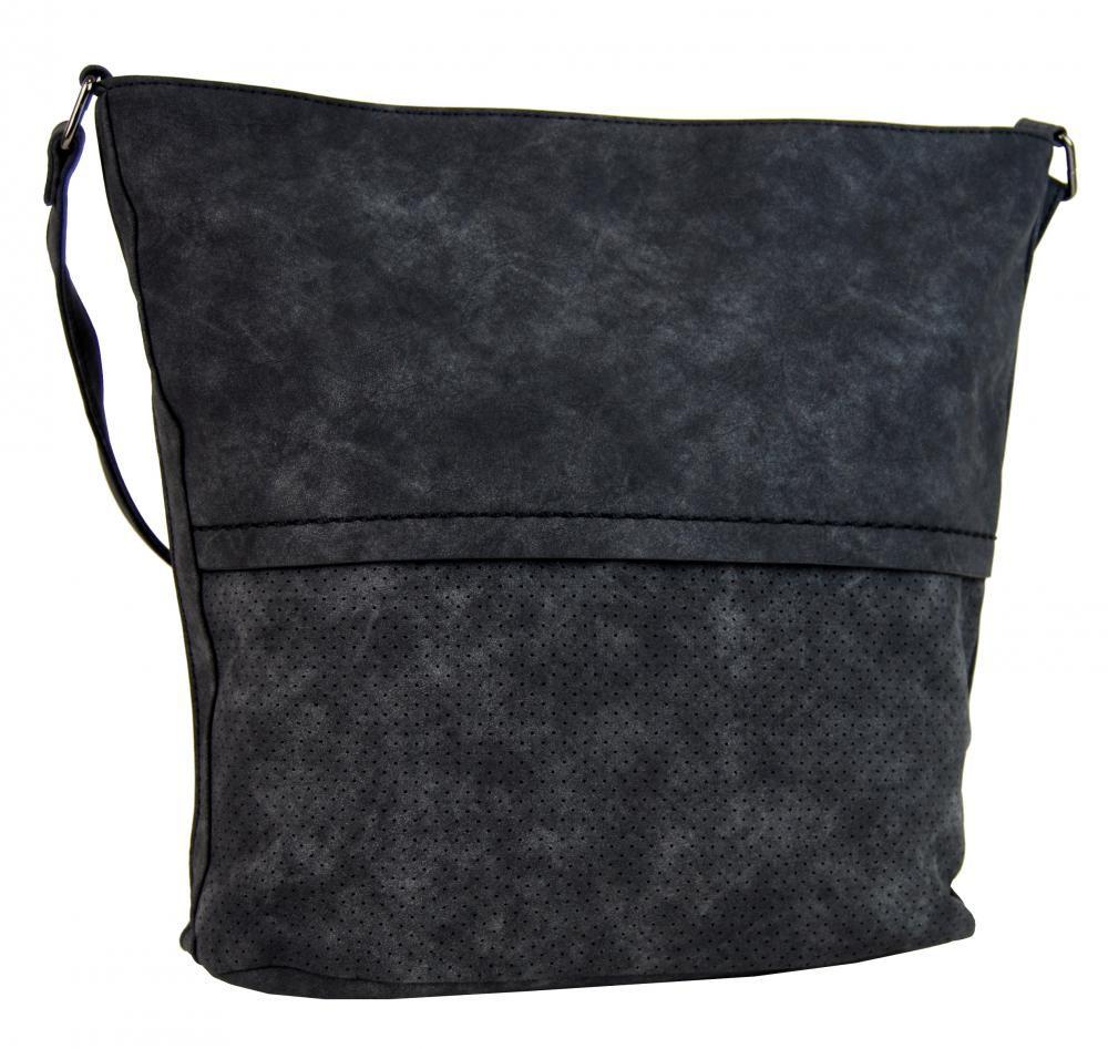 Tapple Dámská broušená crossbody kabelka 16010 černá