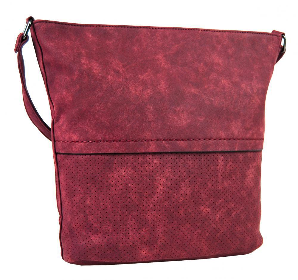 Dámská broušená crossbody kabelka 16010 červená