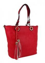 Elegantní kabelka na rameno se zlatými doplňky 2181-BB červená Maria Marni E-batoh