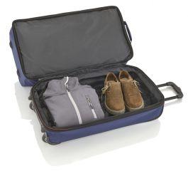 Travelite Basics Wheeled duffle L Grey/green E-batoh
