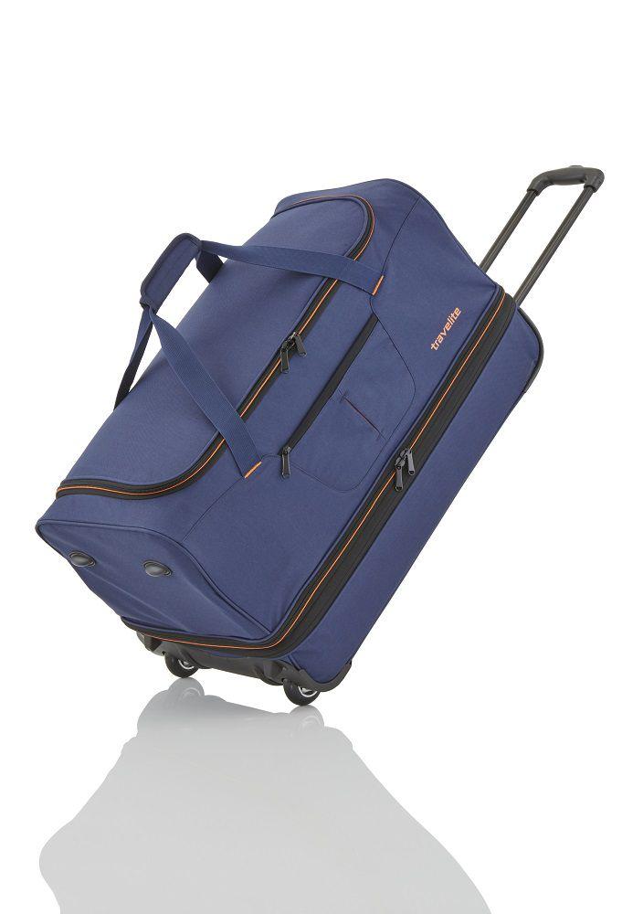 Travelite Basics Wheeled duffle L Navy/orange