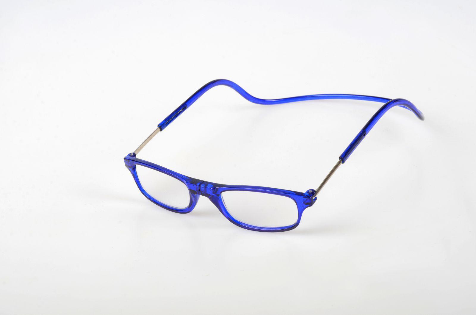 Dioptrické brýle na čtení s magnetem +1,5 - modré obruby