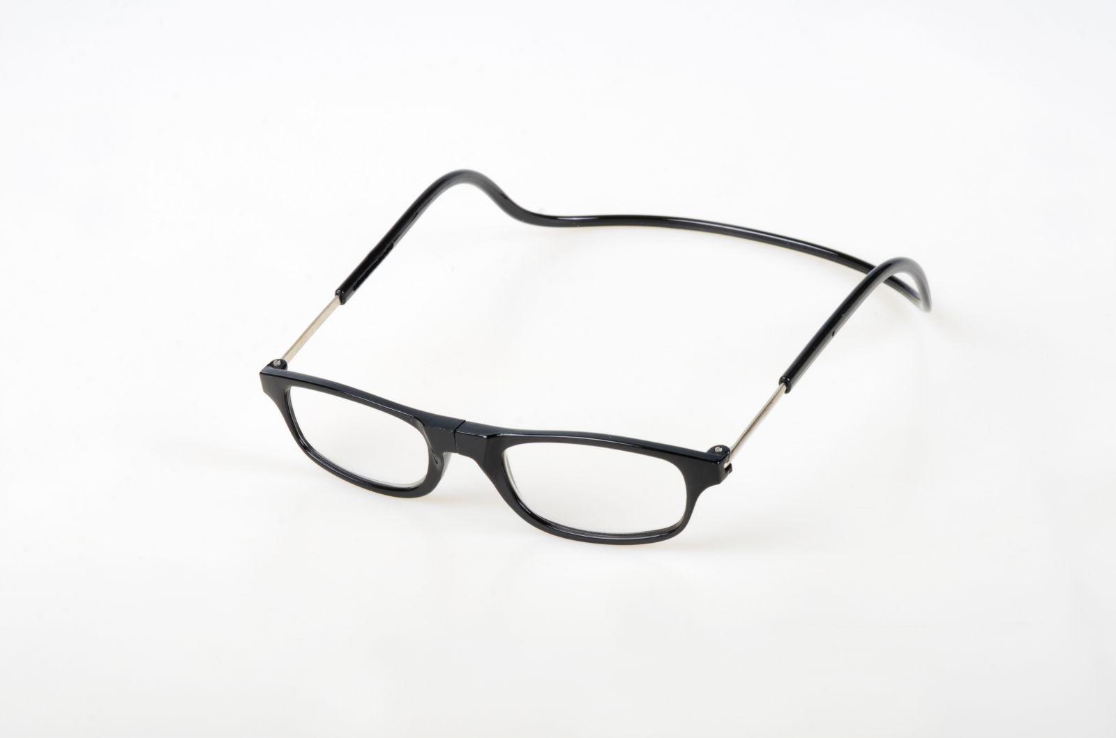 Dioptrické brýle na čtení s magnetem +3,0 - černé  obruby