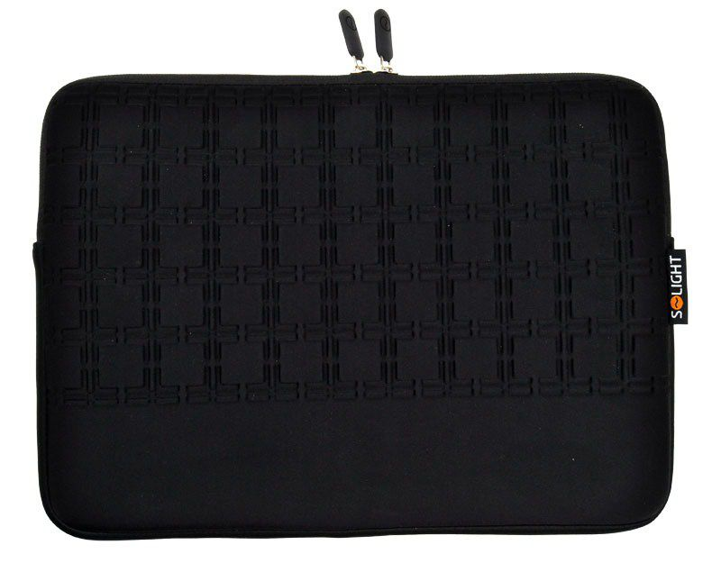Solight neoprenové pouzdro na notebook 13'', se vzorem, černé