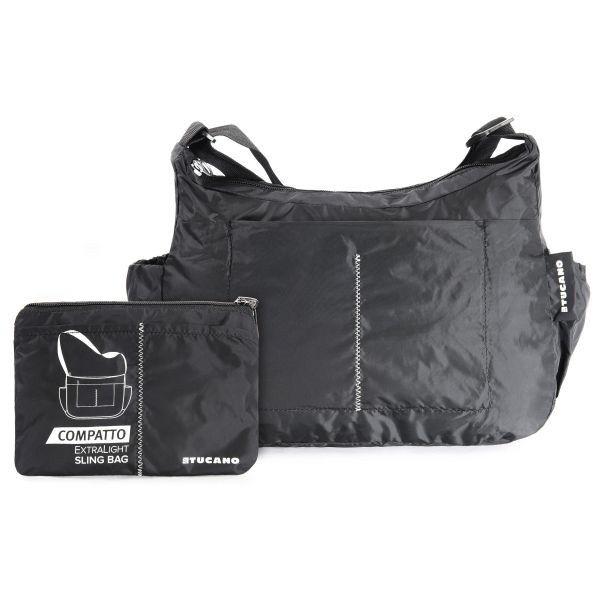 Tucano skládací taška přes rameno 15L, ultralight, voděodolný nylon (černá)