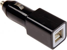 Solight USB nabíjecí autoadaptér, 2x USB, 2400mA max., DC 12-24V, černý