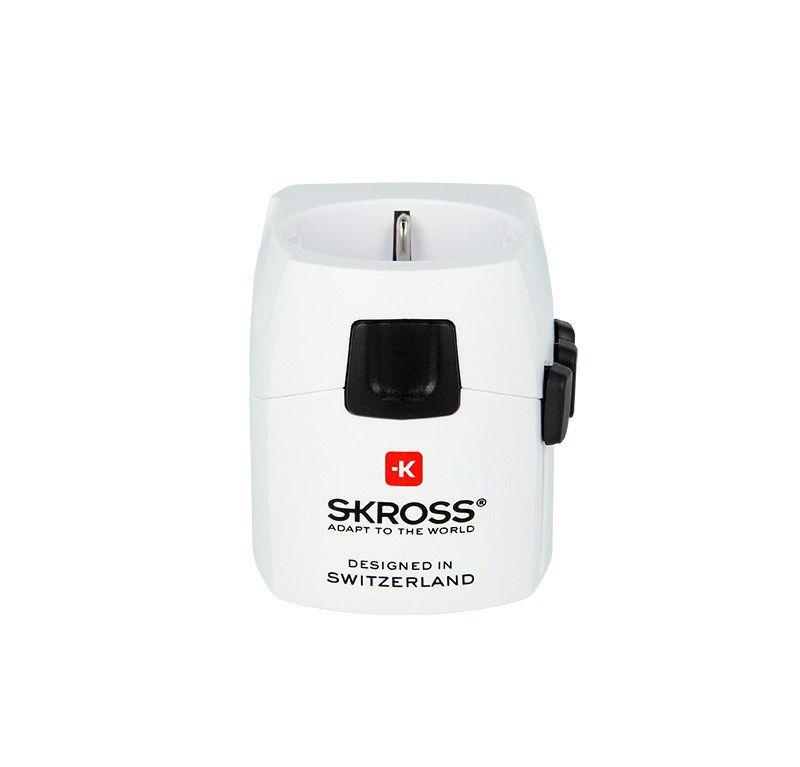 SKROSS World PRO Light cestovní adaptér, 6.3A max., uzemněný, UK+USA+Austrálie/Čína