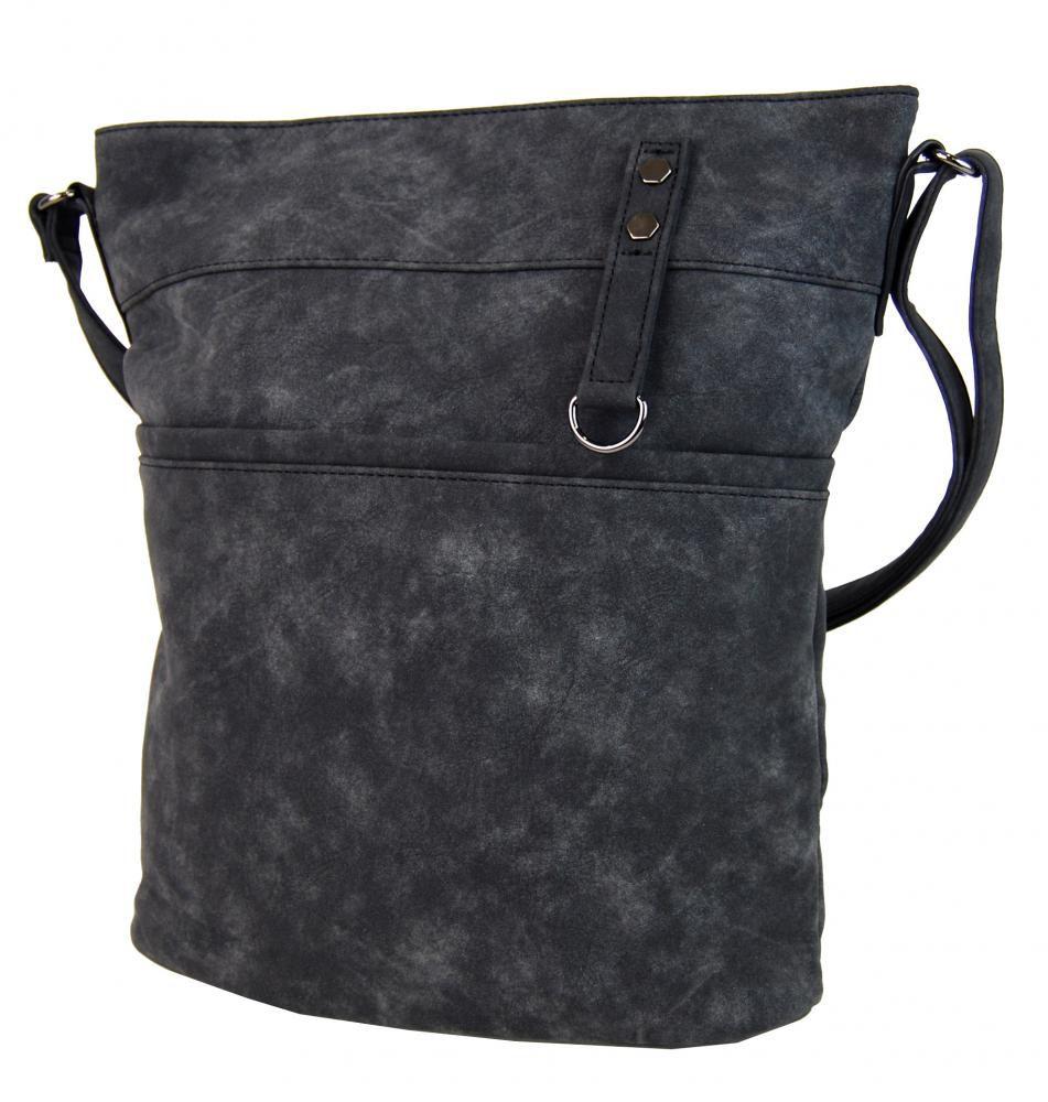 Tapple Dámská broušená crossbody kabelka 16007 černá