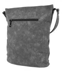 Dámská broušená crossbody kabelka 16007 šedá Tapple E-batoh
