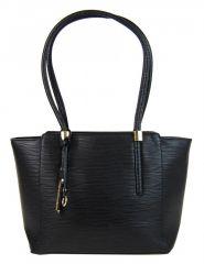 Elegantní kabelka na rameno se zlatými doplňky 2017-BB černá