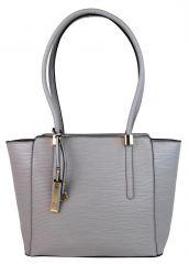 Elegantní kabelka na rameno se zlatými doplňky 2017-BB šedá