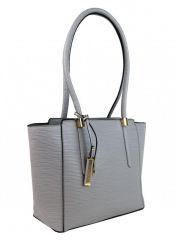 Elegantní kabelka na rameno se zlatými doplňky 2017-BB šedá Maria Marni E-batoh