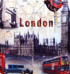Dámská kabelka na rameno s motivem Londýna 60694 černá Tapple E-batoh