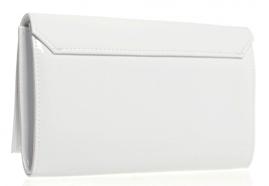 4f7f1980bc Luxusní bílé dámské psaníčko SP100 lak GROSSO E-batoh