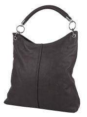 Moderní velká kabelka přes rameno 54-MH tmavě šedá