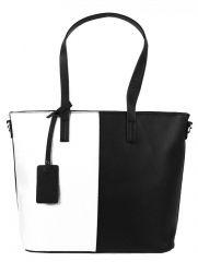 Elegantní kabelka s ozdobou YH-1623 černo-bílá  2 jakost