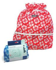 Nákupní skládací taška Dielle AV-11-02 červená